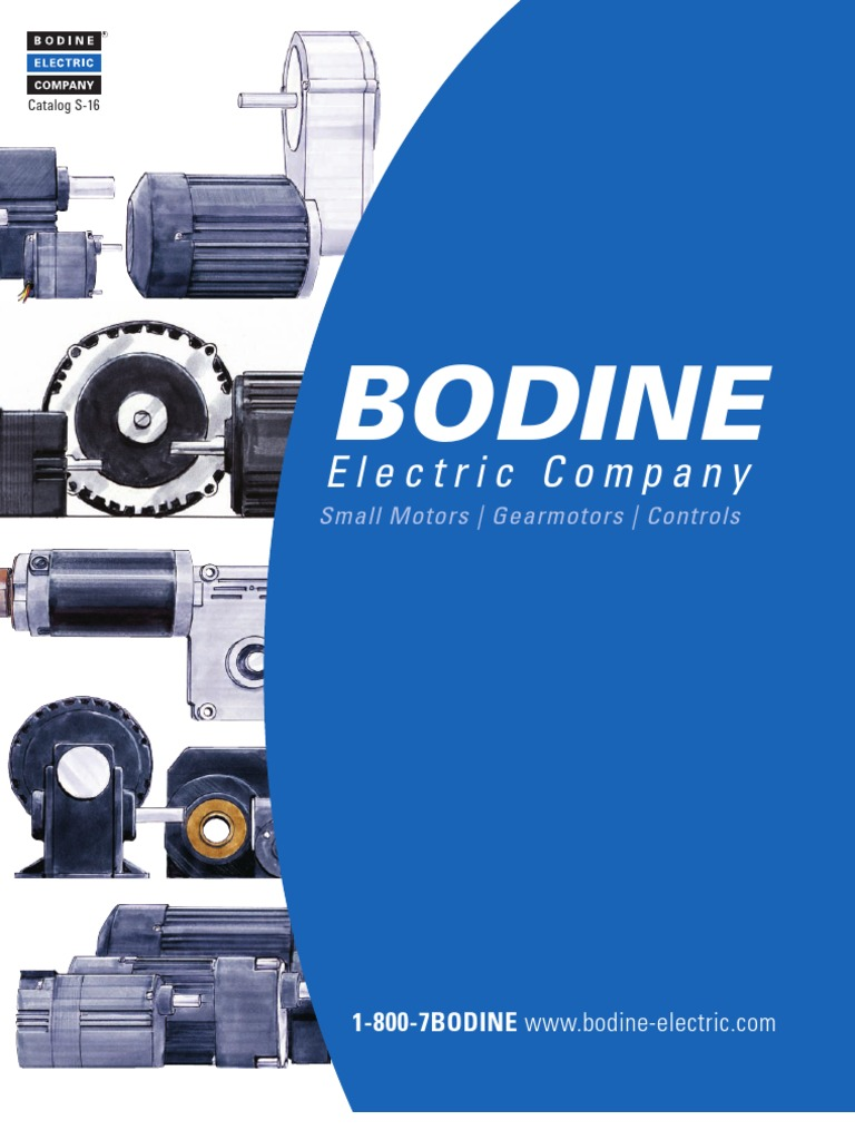 Bodine Motor Wiring Diagram 42r Gear Motors Logo S 16 Catalog Electric R On