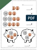 Nickel and Penny Piggybank Practice