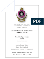 Industrial Training Report-Cover Page
