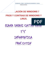 Instalacion de Windows 7 y Pros y Contras