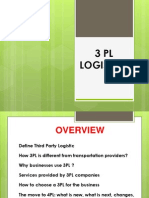 My Ppt on 3 Pl Logistics (1)