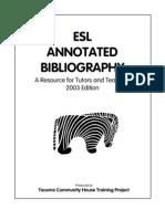 Teaching ESL bibliography