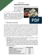 Monopolios en Ecuador