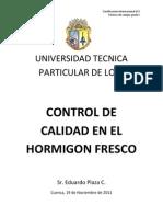 Universidad Tecnica Particular de Loja- Informe Hormigon Fresco