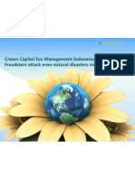 Crown Capital Eco Management Indonesia Fraud Fraudsters attack even natural disasters victims