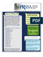 November-December 2011 PRSSA Newsletter