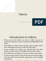 Introduction to Fabrics