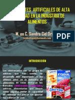 Ponencia-edulcorantes Artificiales de Alta Intensidad