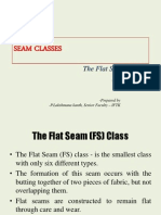 SEAM CLASSES - Flat Seams and Stitching Classes