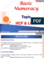 Basic Numeracy HCF LCM