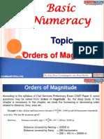Basic Numeracy Order of Magnitude