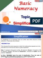 Basic Numeracy Simplification