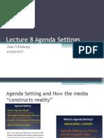 Lecture 8-Agenda Settings
