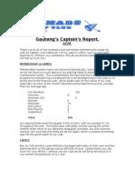 Captain's AGM Report- 2012