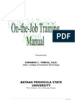 Ojt Manual - University Modified 2010