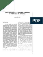 La pérdida del patrimonio urbano y cultural de Yecla (I).