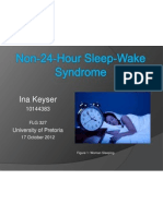 Non 24 Hour Sleep Wake Syndrome