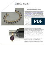 Byzantine and Bead Bracelet