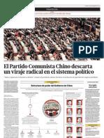El Partido Comunista chino descarta un viraje radical en el sistema político
