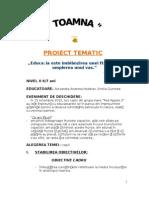 Toamna. Proiect Tematic 2012 Andreea