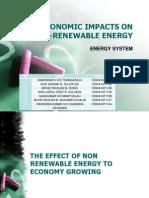 Socioeconomic Impacts on Non-renewable Energy
