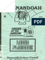 1989-1990 Lodge Planbook, Shenandoah Lodge #258