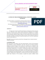 A Study on the Entrepreneurial Intention Among Students 001-3-3