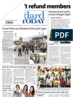 Manila Standard Today -- Saturday (November 10, 2012) issue