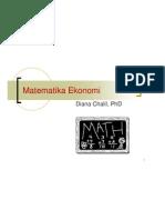 Matematika Ekonomi Slide Matematika Ekonomi 2