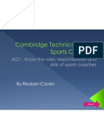 AO1 - Coaching Roles and Responsibilities