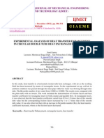 Experimental Analysis of Heat Transfer Enhancement in Circular Double Tube Heat Exchanger