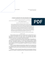 A Kinetic Method for Determination of Phenol