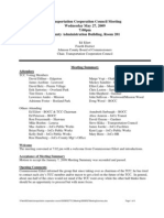 May 27 2009 TCC Meeting Summary