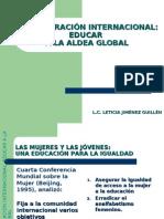 2. Presentación de Tema, Educar a La Aldea Global
