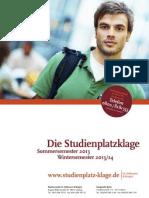 Infobroschüre zur Studienplatzklage - www.studienplatz-klage.de