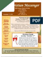 November 11 Newsletter