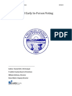 2008 Franklin County Early Voting Report