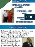INFORME A AGOSTO DE OBRA EN PROYECCIÓN - 3RA DE LORICA, CÓRDOBA - DISTRITO 19