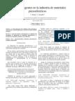 estandares de la industria de materiales piezoelectricos