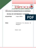 Contrataciones en Situaciones de Emergencia Propio
