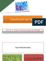 8 Classificao Das Taxas