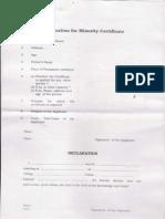 Minority Certificate