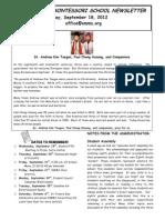 OMMS Newsletter 09-18-12