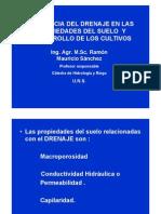 Incidencia Del Drenaje en Las Propiedades Del Suelo