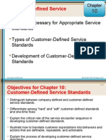 Customer-Defined Service Standards