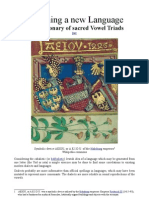 Designing a new Language - The Dictionary of sacred Vowel Triads