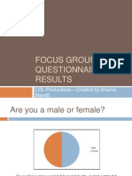 Focus Group Questionnaire Results