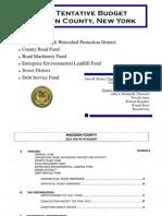 2013 Tentative Budget -11!7!12