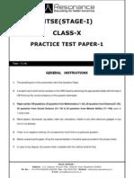 NTSE stage-1 Mock Test 1