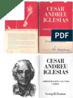 Cesar Andreu Iglesias Por Georg Fromm